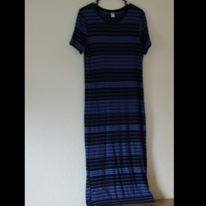 Old Navy Ribbed Dress, Black and Blue